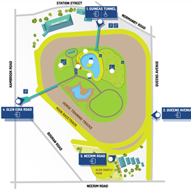 Caulfield Racecourse Map